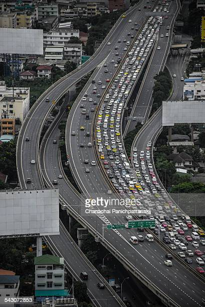 Traffic jamming in Bangkok