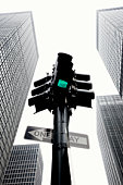 Traffic lights at Park Avenue, low angle view