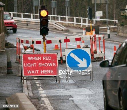 Traffic Lights at Road Works