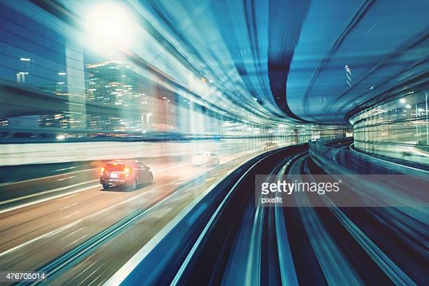 Traffic motion in Tokyo Japan