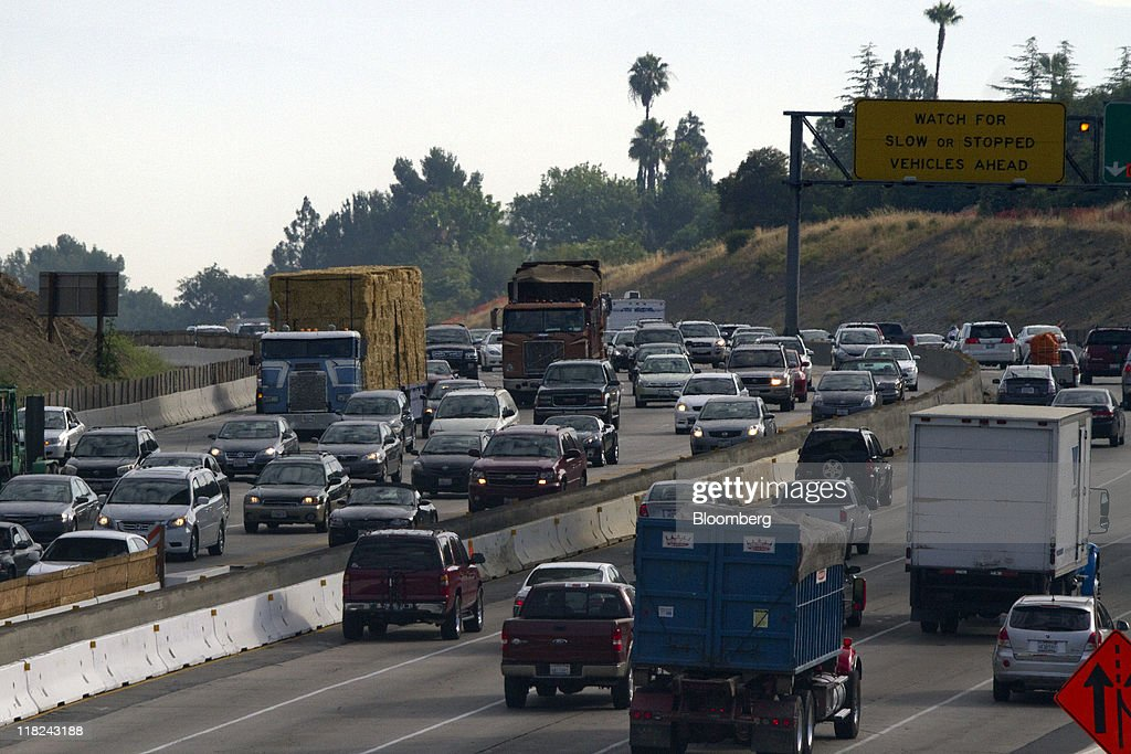 Traffic moves along interstate 405 freeway in los angeles california picture id118243188 traffic moves along interstate 405 freeway in los angeles california us on tuesday sciox Choice Image