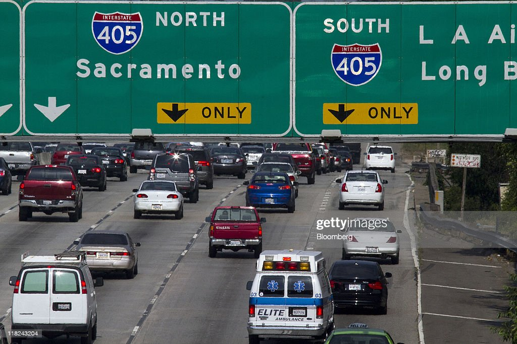 Traffic moves along on interstate 10 freeway approaching interstate picture id118243204 traffic moves along on interstate 10 freeway approaching interstate 405 freeway in los angeles california sciox Choice Image