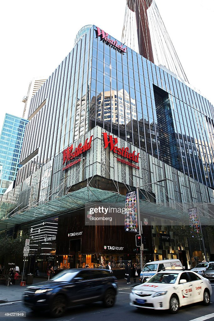 Traffic moves past Westfield Group's Westfield Sydney shopping mall in Sydney Australia on Thursday May 29 2014 Frank Lowy the billionaire founder of...