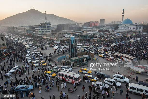 Traffic moves through the old city on November 12 2012 in Kabul Afghanistan