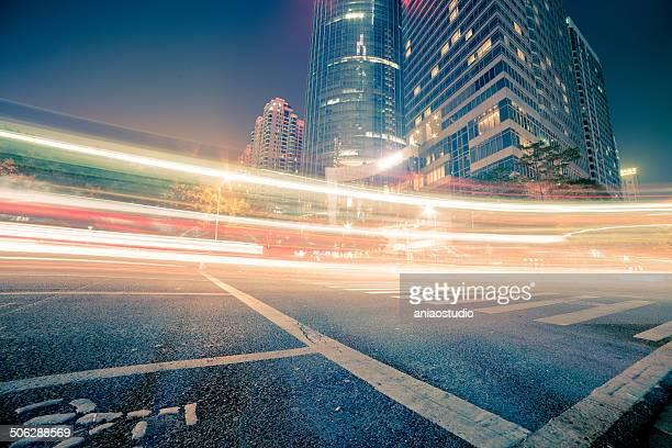traffic of modern city