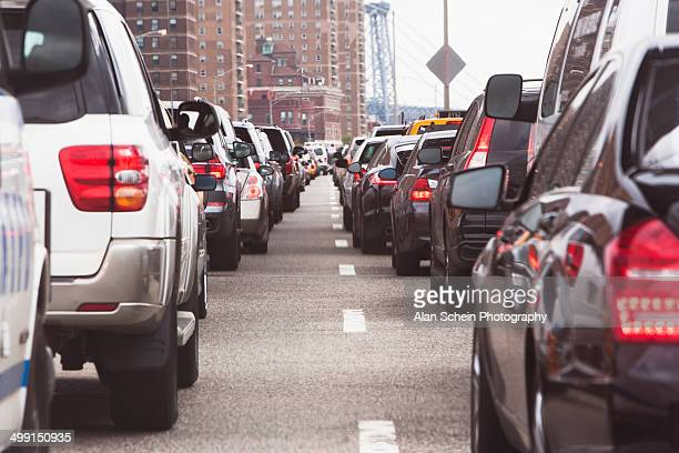 Traffic on city street, New York City, New York State, USA