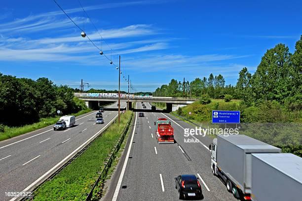 Tráfico en autopista en Dinamarca#3