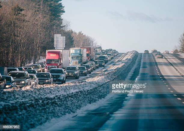 Traffic on I95 north near the Saco exit in Saco ME on Thursday March 12 2015