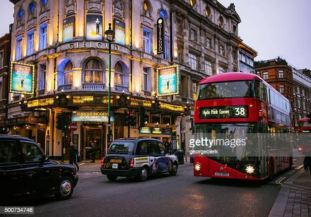 Traffic on London's Shaftesbury Avenue