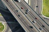 Traffic on overpass