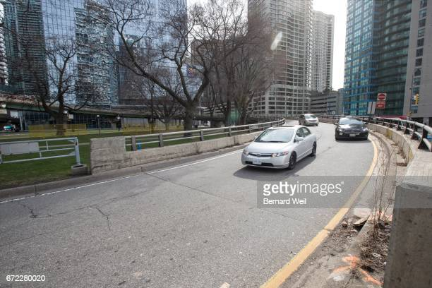 TORONTO ON APRIL 10 Traffic on the York St offramp from Gardiner Expressway will soon be blocked for construction aof a new ramp Access to Lakeshore...