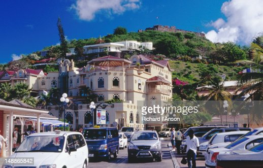 French st martin stock photos and pictures getty images for Apartments with shops below