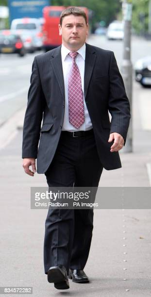 Traffic policeman Michael Alford arrives at Cambridge County Court Cambridge Cambridgeshire who today launched civil proceedings against...