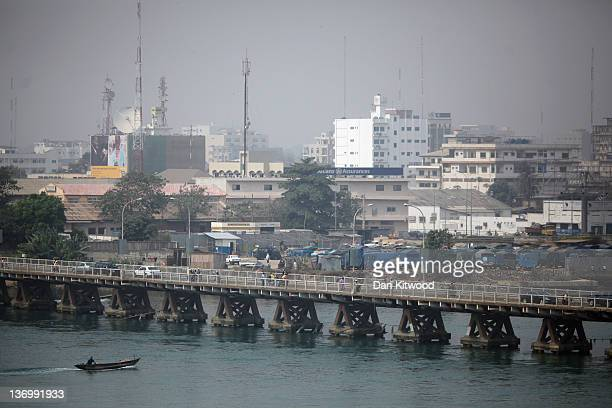 Traffic queues over a bridge for fuel on January 13 2012 in Cotonou Benin A removal of subsidy on fuel by the neighbouring Nigerian Government has...