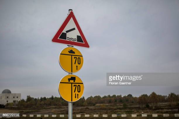 A traffic sign about the Military Load Classificationon is pictured on October 26 2017 in Schnoeggersburg Germany The urban agglomeration called...