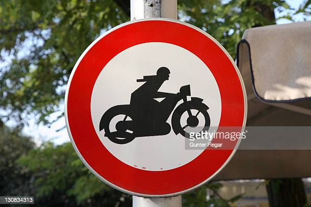 Traffic sign - motorcycles forbidden