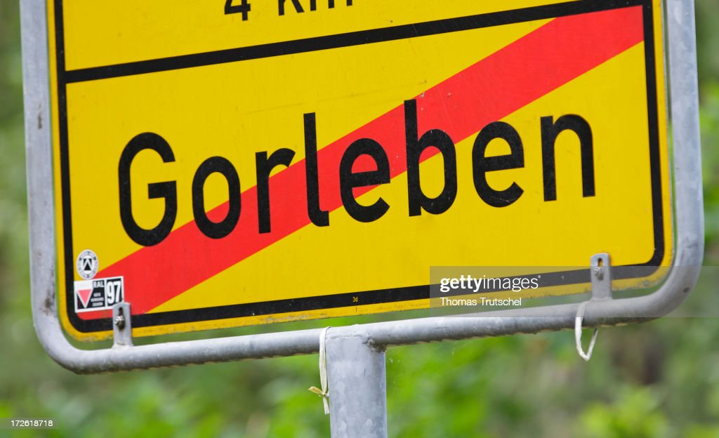 A traffic sign with the word Gorleben is pictured June 28, 2013 in Gorleben, Germany. A law ends radioactive transports to the controversial site in Gorleben for the time being. Under the terms of the measure, the government will commission a group of 30 experts to oversee the search. The panel, comprised of members of parliament, scientists and representatives from various interest groups, must present a list of criteria for the search by 2015. It must convene publicly before approving stipulations for the selection process.
