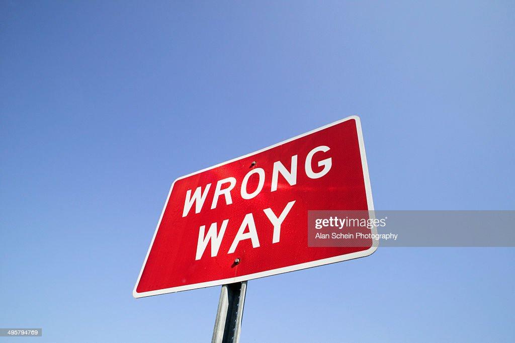Traffic sign 'Wrong way'