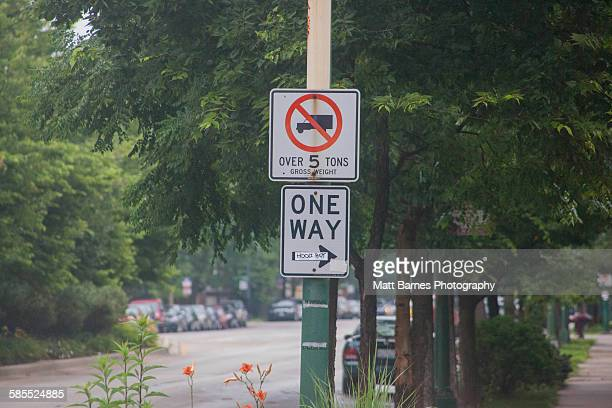 Traffic Signs, Chicago, Illinois, USA