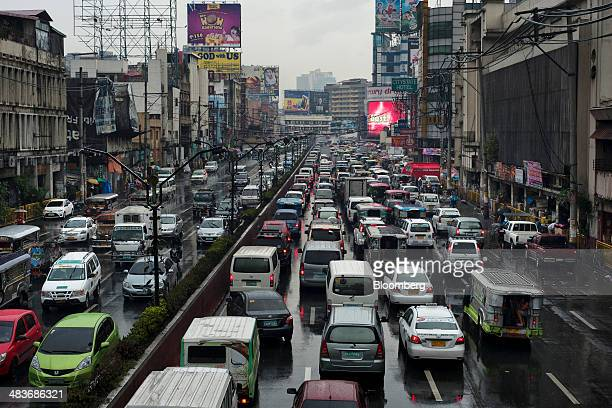 Traffic stands congested in Manila the Philippines on Monday March 24 2014 Manila's commuters are victims of a decade of neglect that President...
