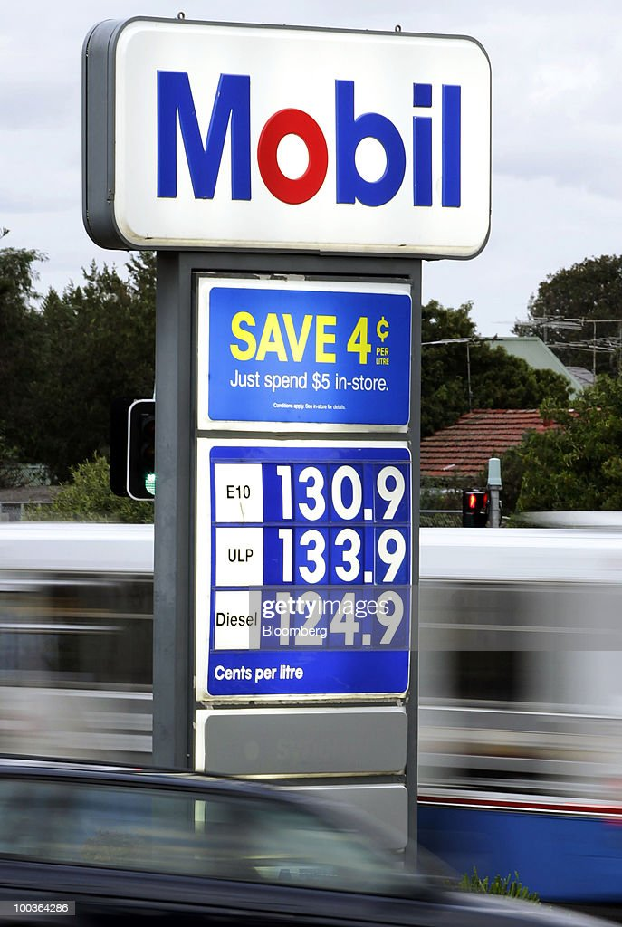 Traffic travels past an Exxon Mobil Corp. gas station in Sydney, Australia, on Monday, May 24, 2010. 7-Eleven Australia is close to acquiring most of Exxon Mobil Corp's local filling stations, the Australian newspaper reported on its website on May 19, without saying where it got the information. Photographer: Ian Waldie/Bloomberg via Getty Images