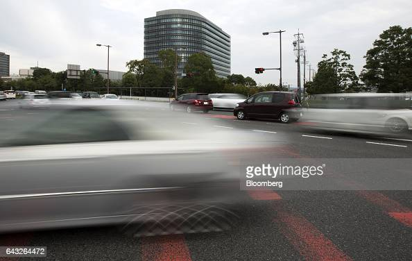Traffic travels past the Toyota Motor Corp headquarters in Toyota City Aichi Japan on Thursday Oct 13 2016 Toyota plans to rely on hydrogen to all...