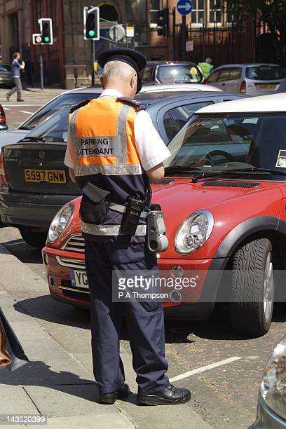 Traffic Warden, Leeds City Centre, Yorkshire, England