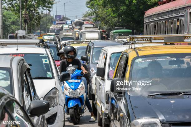 Traffic was jammed from Sion to Chembur due to protest of Shiv Sena activists against BJP government for the rising prices of petrol and diesel at...