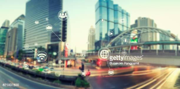 Traffict,vehicles, wireless technology communication network