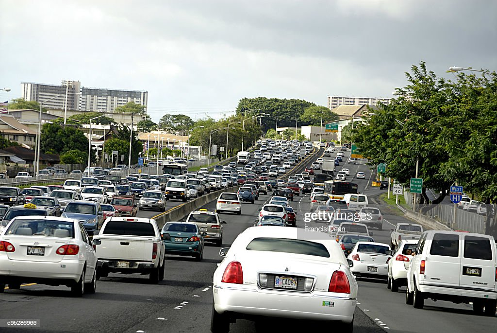 HONOLULU / HAWAII/ USA Trafic in honolulu 10 Nov 2011