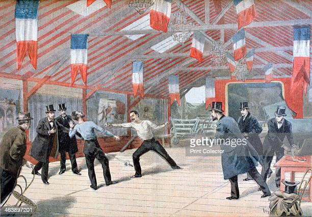 'A Tragic Duel The Death of Monsieur Harry Alis' 1895 An illustration from Le Petit Journal 17th March 1895