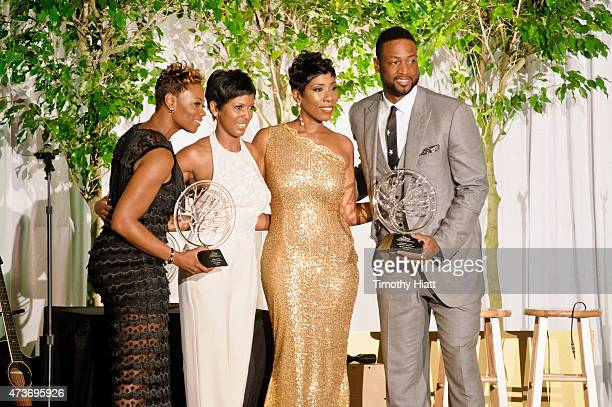 Tragil Wade Tamron Hall Karli Harvey and Dwyane Wade attend the Steve Marjorie Harvey Foundation Gala on May 16 2015 in Chicago Illinois