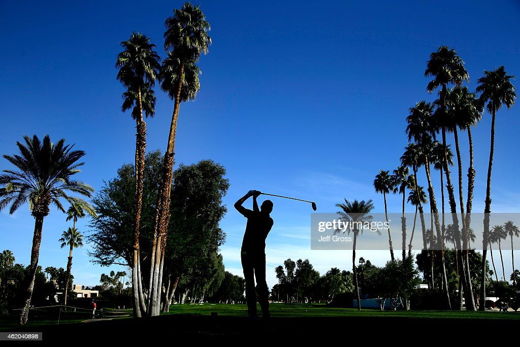 J Trahan of the United States tees off on the 11th hole during round two of the Humana Challenge in partnership with The Clinton Foundation at the La...