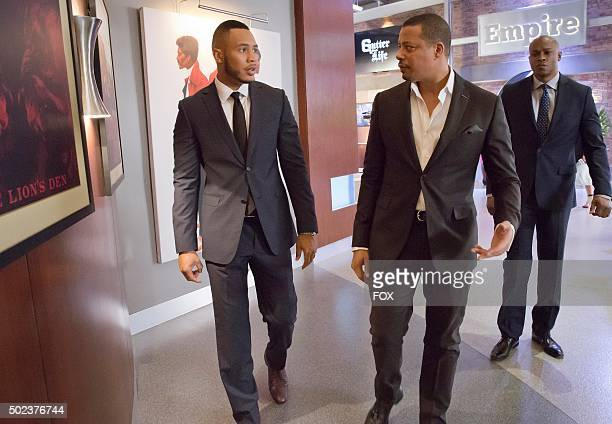 Trai Byers and Terrence Howard in the Et Tu Brute fall finale episode of EMPIRE airing Wednesday Dec 2 on FOX