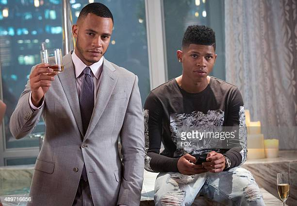 Trai Byers as Andre Lyon and Bryshere Gray as Hakeem Lyon in the The Devils Are Here Season Two premiere episode of EMPIRE airing Wednesday Sept 23...