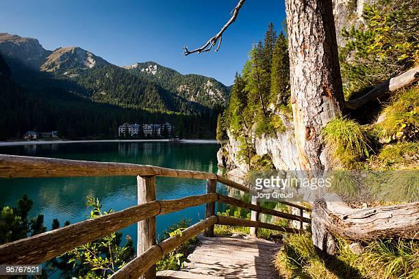 Trail at Lago di Braies Lake
