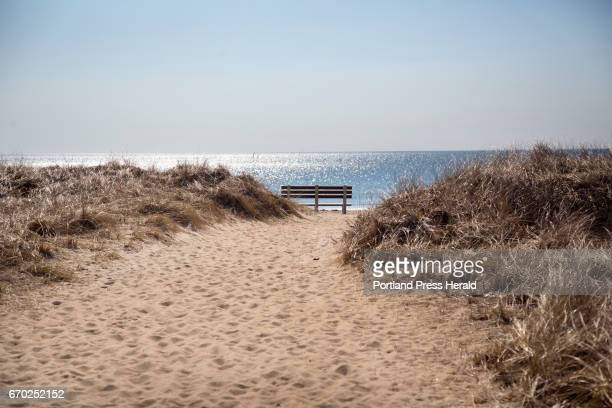 A trail leads to the water from Sea View on West Grand Avenue in Old Orchard Beach