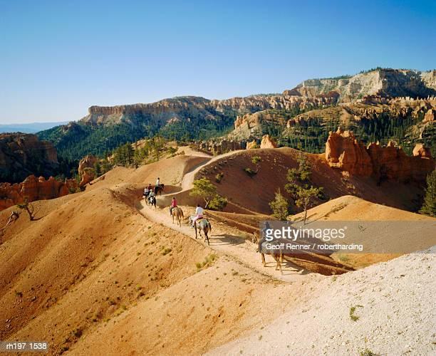 Trail riding, Bryce National Park, Utah, USA