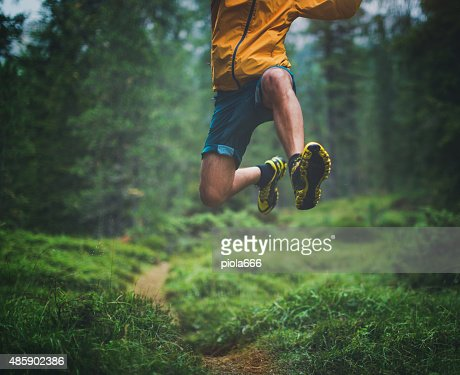 Trail running grand saut