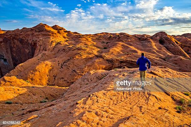 Trail Running in Escalante Petrified Dunes