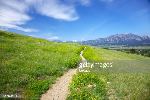 Trail to the Flatirons in Boulder Colorado