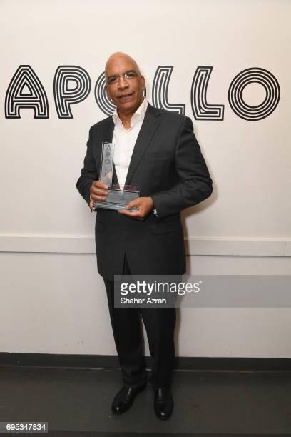 Trailblazer Award recipient Stan Lathan posea backstage during Apollo Spring Gala 2017 at The Apollo Theater on June 12 2017 in New York City