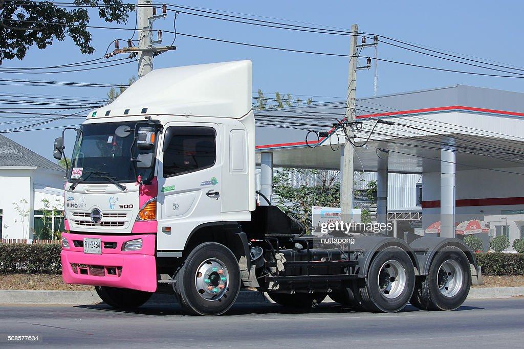 Trailer truck  of Thanachai Company. : Stock Photo