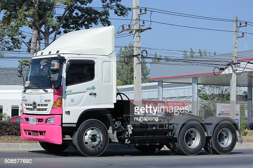 Trailer truck  of Thanachai Company. : Stock Photo