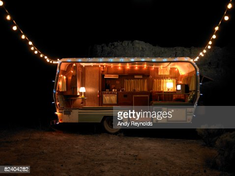 trailer with lights  : Stock Photo