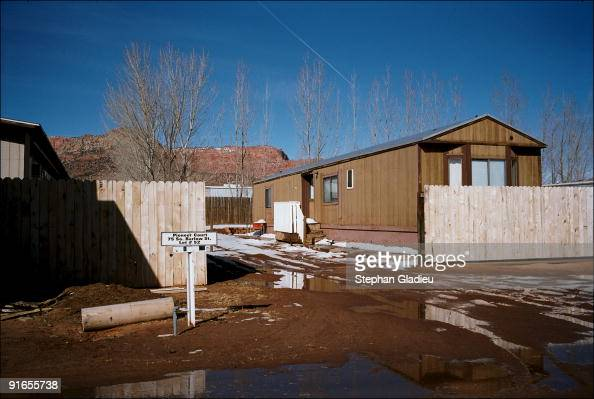 Trailers in the polygamist town of Colorado City a community at the border of Utah and Arizona ran by the Fundamentalist Church of Jesus Christ of...