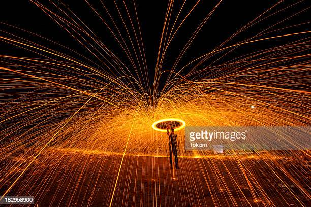 Trails of light - Steel wool
