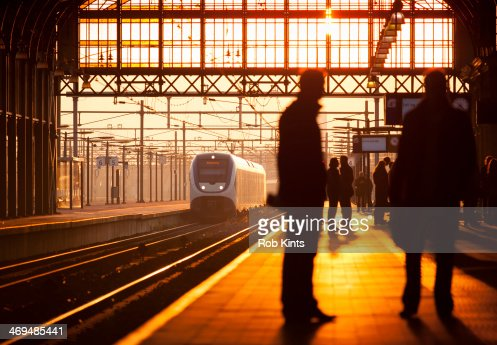 Train approaching station
