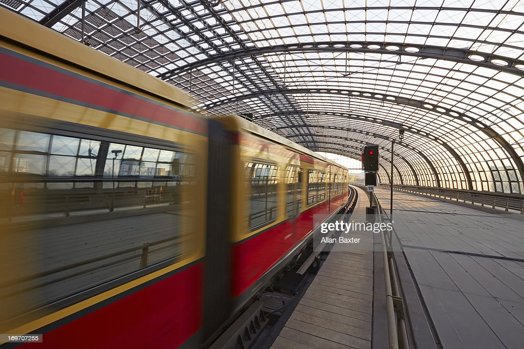 Train arriving at Berlin station