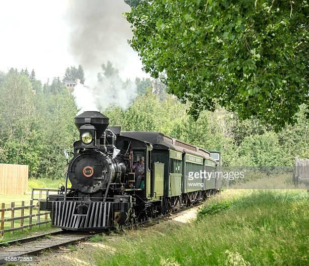 Train at Fort Edmonton, Alberta